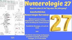 Ganzheitliche Numerologie - die Zahl 27