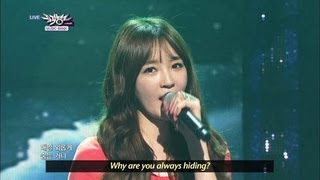 [Music Bank w/ Eng Lyrics] Davichi - Just The Two Of Us (2013.04.06)