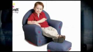 Kids Upholstered Rocking Chair - Great Looking, Nicely Made, Upholstered Rocking Chair For Nursery !