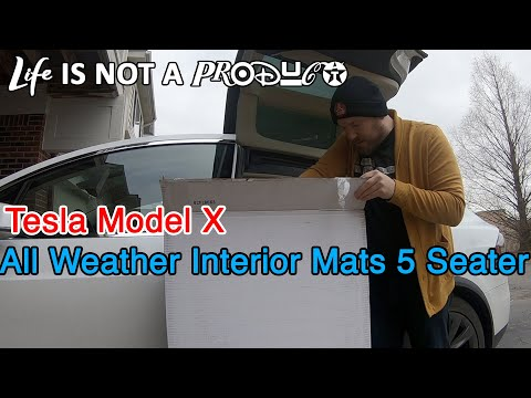 Tesla Model X All Weather Interior Mats 5 Seater