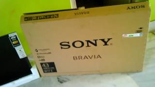 Unboxing sony 2017 new klv- 43w772e, নূতন সোনি টিভি।