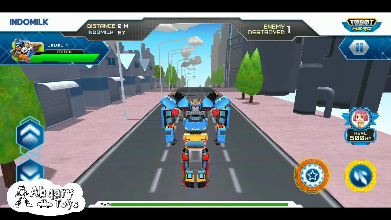 Tobot Tritan Bisa Terbang!! - Game Indomilk Tobot Hero