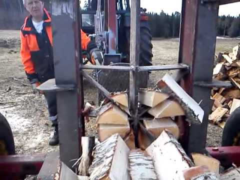 Homemade log-splitter 30 ton