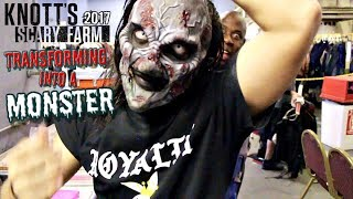 Knott's Scary Farm 2017 | TRANSFORMING INTO A MONSTER