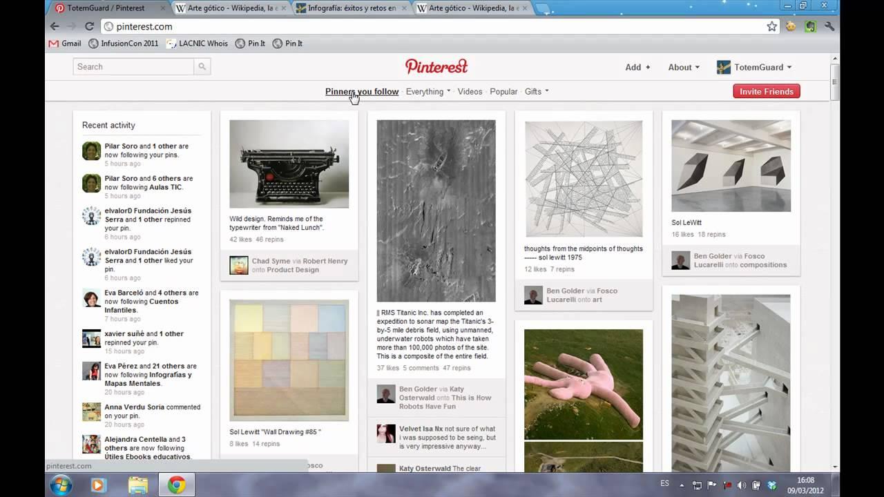 Video tutorial de pinterest en espa ol meritxell vi as for Pinterest en espanol