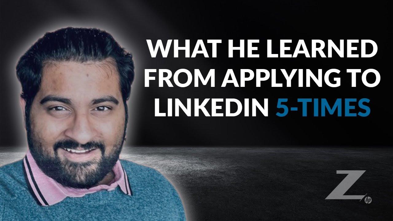 Landing a Data Science Job at LinkedIn - After 5 Tries... (Aash Viswanathan) - KNN Ep. 49