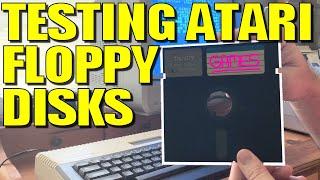First Time Testing Atari Floppy Disks!