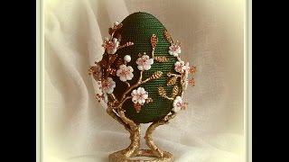 Декоративные пасхальные яйца из бисера необычайной красоты