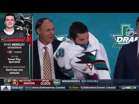 2018 NHL Draft: Sharks Pick Merkley in 1st
