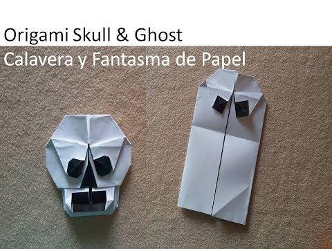 Origami Skull and Ghost - Calavera y Fantasma de Papel
