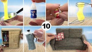 10 Coisas fáceis de fazer para Boneca Barbie - DIY Miniatura