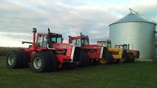 Rare 4WD Tractors Plowing: Massey Ferguson 5200 and McConnell 990 & 1000