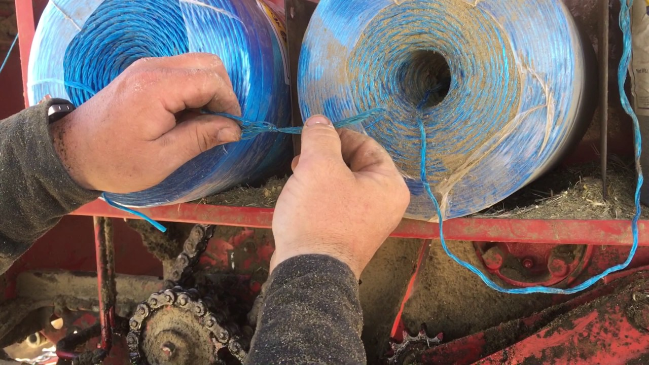 How we tie the twine in the baler