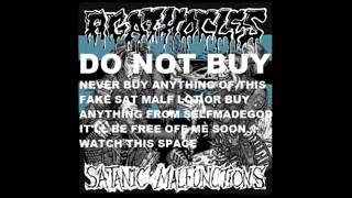Satanic malfunctions(fake) songs off split with agathocles /selfmadegod