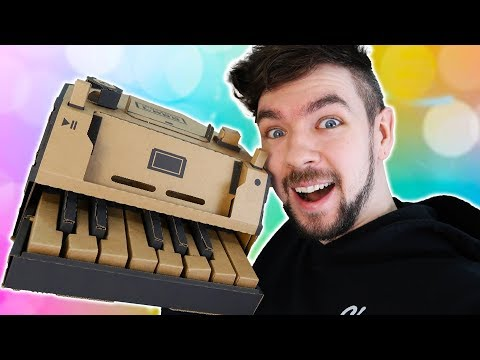 CREATING A PIANO OUT OF CARDBOARD | The Jacksepticeye Power Hour