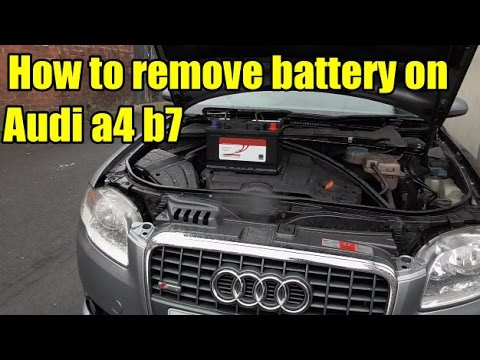 how to remove audi a4 b7 battery youtube. Black Bedroom Furniture Sets. Home Design Ideas