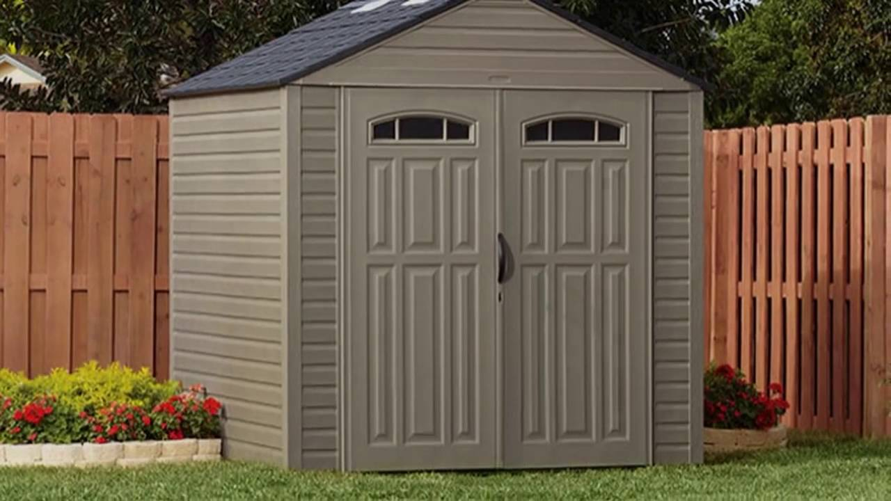 rubbermaid vinyl storage sheds youtube - Garden Sheds 7x7