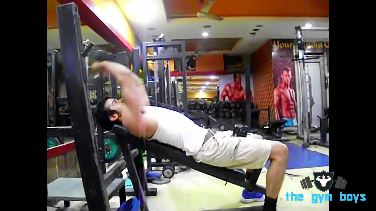 Incline Bench Dumbbell Pullover - YouTube