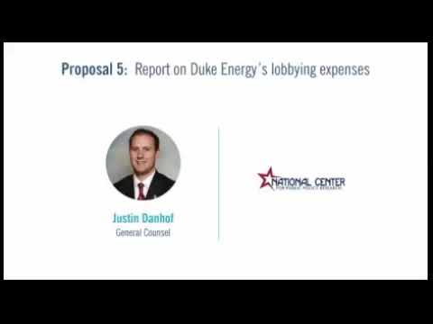 As You Sow Network Exposed by Free Enterprise Project at Duke Energy Shareholder Meeting