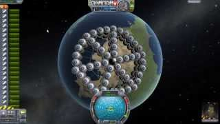 Kerbal Space Program - Tower of Power (110 Solid Fuel Rockets, 55 Per Stage)