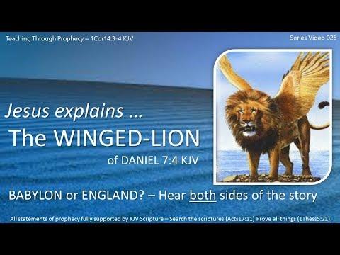 DANIEL 7 The FOUR BEASTS  025 Jesus Explains The Winged Lion!   Dan7 4