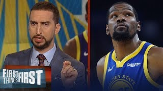 Nick Wright isn't buying Kevin Durant will re-sign with Golden State | NBA | FIRST THINGS FIRST