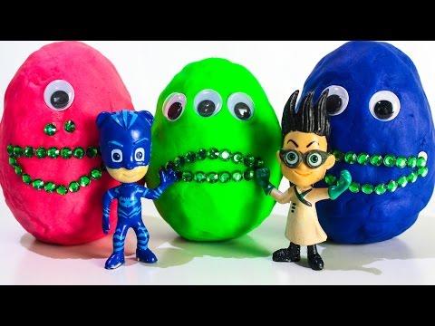 ГЕРОИ В МАСКАХ Новые серии на русском Развивающие мультики Киндер Сюрприз Игрушки PJ MASKS для детей