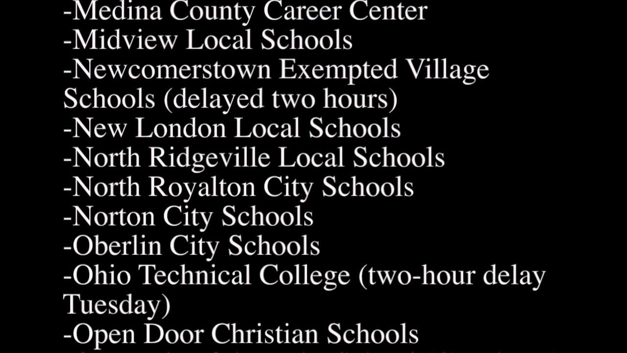 Closings school ohio
