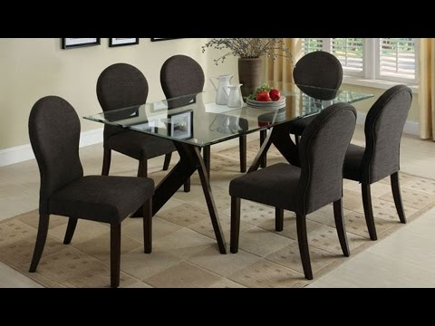 UPHOLSTERED DINING CHAIRS WITH NAILHEAD TRIM