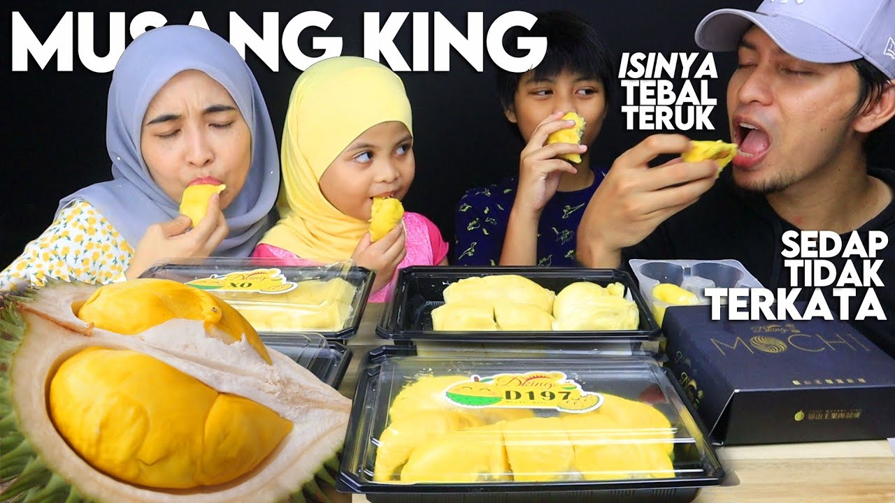 """""""nikmat X terkata"""" Mukbang DURIAN MUSANG KING PREMIUM RAUB with Mochi (mukbang Malaysia)"""