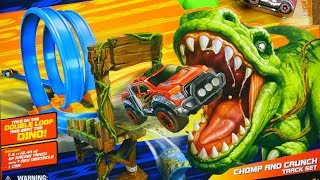 Adventure Force Take On The Double Loop And Beat The DINO Chomp And Crunch Track Set