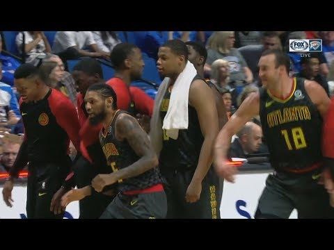 Roberson Injury Setback, Halfcourt 3! Hawks vs Thunder Preseason NBA 2018-19