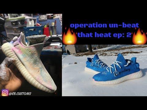 FIXING RUINED YEEZYS! operation: un-beat that heat episode #2