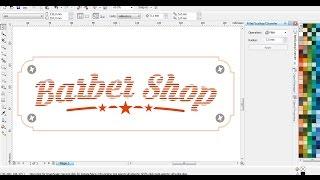 Barber Shop Logo Typography dengan CorelDRAW X4 | Belajar CorelDRAW