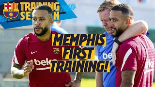 MEMPHIS MEETS THE SQUAD IN HIS FIRST TRAINING SESSION WITH BARÇA 💥