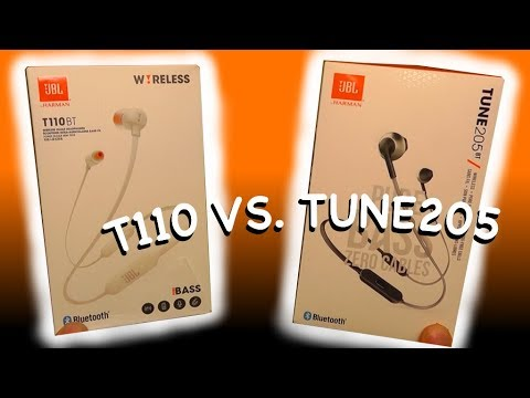 JBL pure bass T110BT VS. TUNE 205BT - Which one is better  - YouTube b64c2aab83