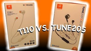 JBL pure bass T110BT VS. TUNE 205BT - Which one is better?