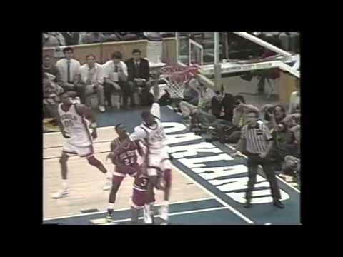 Stacey Augmon dunks on Billy Butts (UNLV vs Ball State)