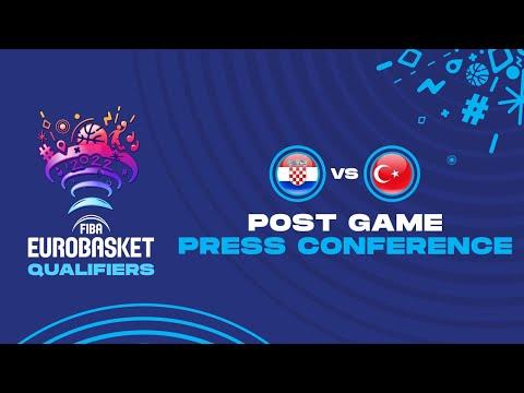 Croatia v Turkey - Press Conference - FIBA Eurobasket Qualifiers 2022