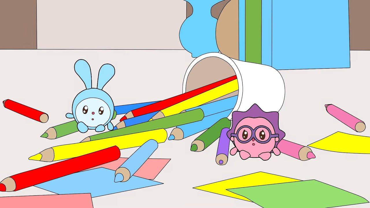 МНОГО Раскрасок ??️? Малышарики - Учим цвета ВМЕСТЕ | Большой сборник мультиков