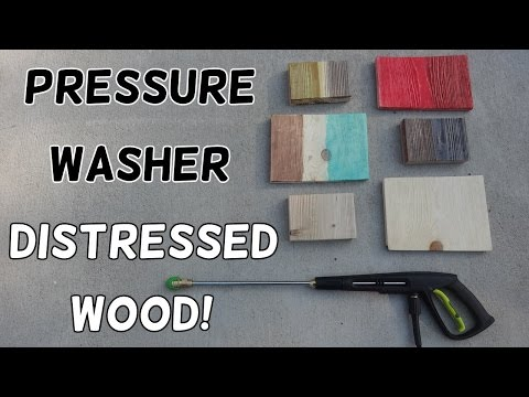 How to Make Weathered Barn Wood with a Pressure Washer!