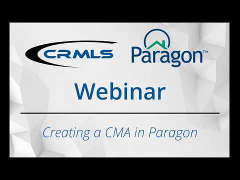 [CRMLS Webinar] Paragon: Creating a CMA in Paragon