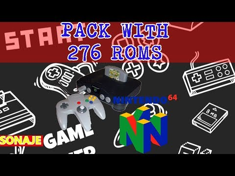 Pack with 276 N64 roms - VC