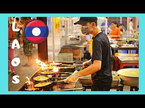 LAOS: VIENTIANE'S night restaurants overlooking the MEKONG RIVER