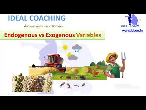 EXOGENOUS VS ENDOGENOUS VARIABLES (HINDI)