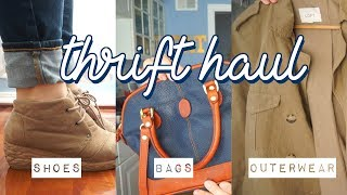 THRIFT HAUL! | Shoes, Bags, and Outerwear