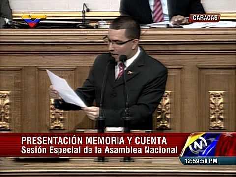 (Completo) Vicepresidente Jorge Arreaza presenta memoria y cuenta de ministros en Asamblea Nacional