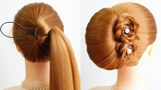 Easy Prom Hairstyle For Medium Hair Most Beautiful Hairstyle For Party Bun Hairstyle Girl Easy