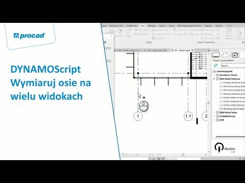 DYNAMOScript - Wymiaruj osie na wielu widokach
