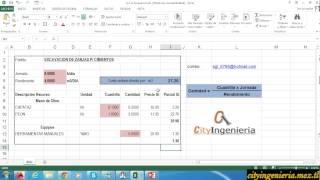 Análisis de Costo Unitario en Excel: Excavación de Zanjas para Cimientos thumbnail